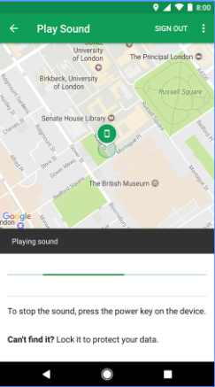 Find My Device - Play sound