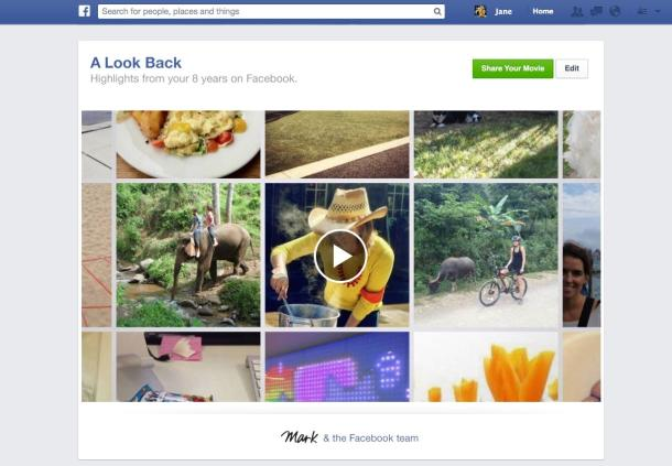 download facebook look back video