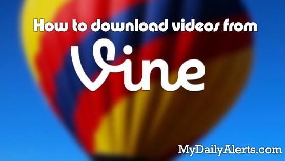 download vine videos