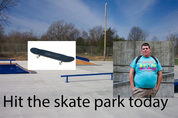 funny skate park photoshop fail