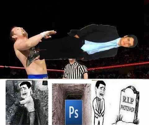 funny wrestling photoshop fail