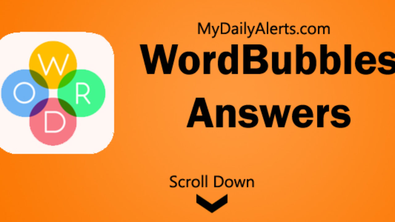 WordBubbles answers, cheats all levels